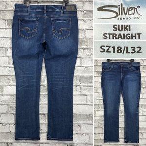 Silver Suki Straight Women's  Sz 18 x 32 Jeans
